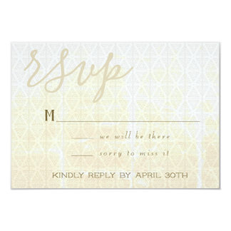 Distressed White Triangles RSVP Card