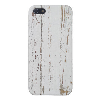 Distressed White Wood Planks Protective Case iPhone 5 Cases