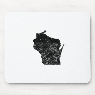 Distressed Wisconsin Silhouette Mousepads