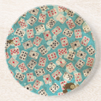 Distressed Wonderland Alice Pattern Coaster