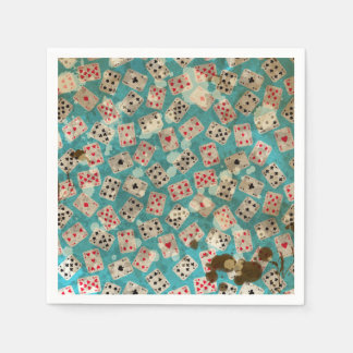 Distressed Wonderland Alice Pattern Disposable Napkins