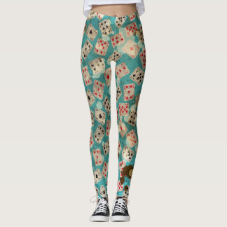 Distressed Wonderland Alice Pattern Leggings