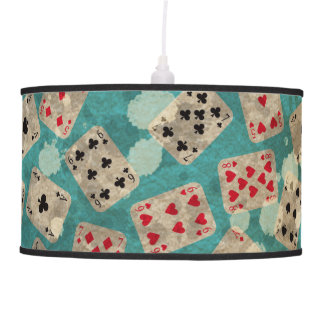 Distressed Wonderland Alice Pattern Pendant Lamp