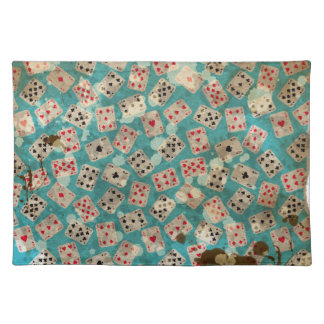 Distressed Wonderland Alice Pattern Placemat