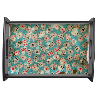 Distressed Wonderland Alice Pattern Serving Tray