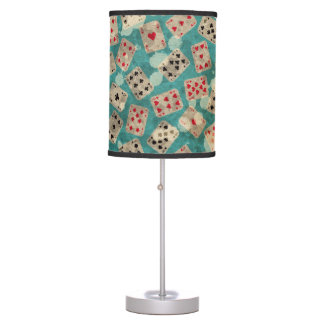 Distressed Wonderland Alice Pattern Table Lamp