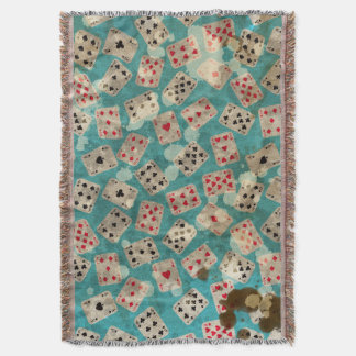 Distressed Wonderland Alice Pattern Throw Blanket