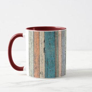 Distressed Wood Affects Coffee Mug
