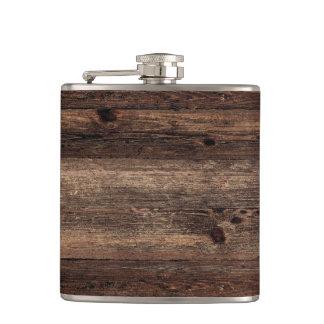 Distressed Wood Antique Vintage Flask