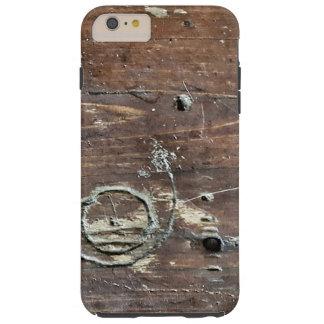 Distressed wood case tough iPhone 6 plus case