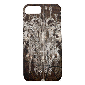 Distressed Wood Grain country Vintage Chandelier iPhone 8/7 Case