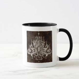 Distressed Wood Grain country Vintage Chandelier Mug