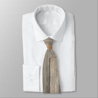 Distressed wood grain tie