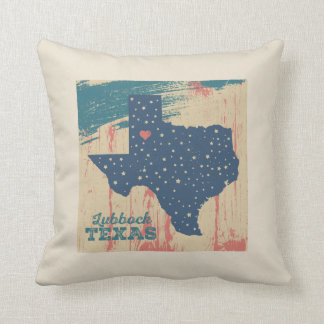 Distressed Wood Pillow - Lubbock Texas