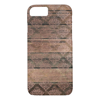 Distressed Wood Rose Lace 2 Diamond Pattern Vintag Case-Mate iPhone Case