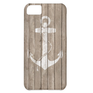 Distressed Wood with Anchor Case For iPhone 5C