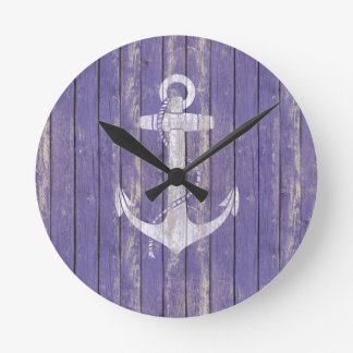 Distressed Wood with Anchor Clocks