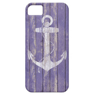 Distressed Wood with Anchor iPhone 5 Case