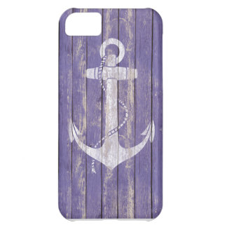 Distressed Wood with Anchor iPhone 5C Case