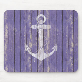 Distressed Wood with Anchor Mouse Pad