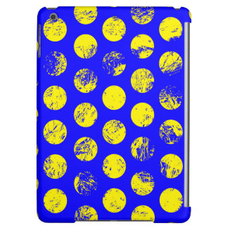 Distressed Yellow Spots on Blue iPad Air Cover