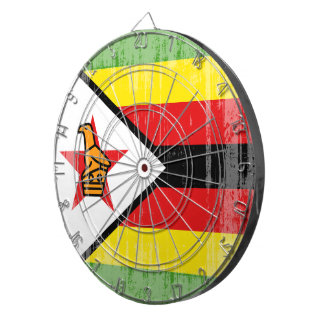 DISTRESSED ZIMBABWE FLAG.png Dartboard