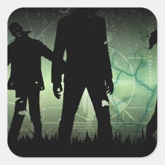 Distressed Zombie Apocalypse Stickers