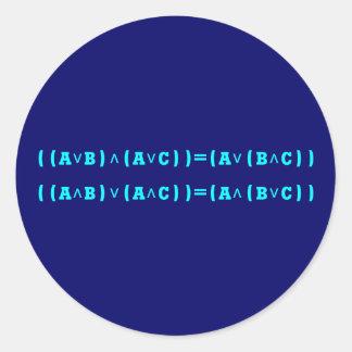 Distributive law logic distributive law logic round sticker