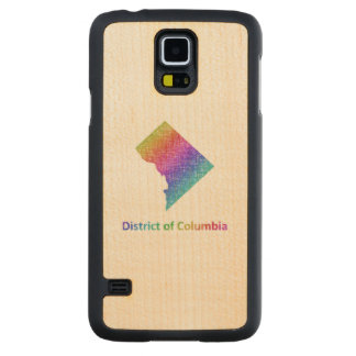 District of Columbia Carved Maple Galaxy S5 Case