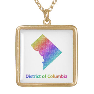District of Columbia Gold Plated Necklace