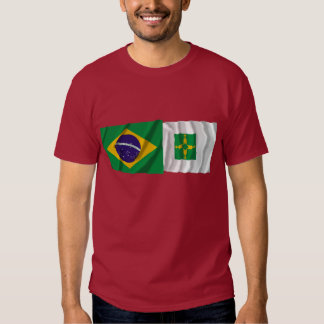 Distrito Federal & Brazil Waving Flags Tees