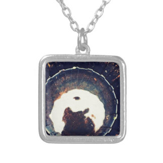 Disturbed waters silver plated necklace