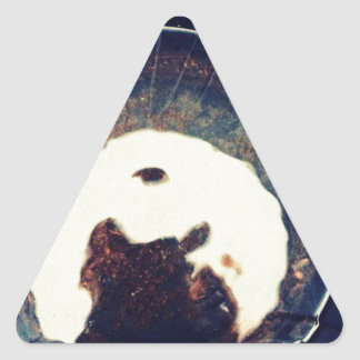 Disturbed waters triangle sticker