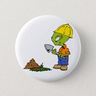 Ditch Digger Alien 2 Inch Round Button