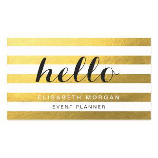 Dites bonjour à vos clients - rayures élégantes carte de visite standard