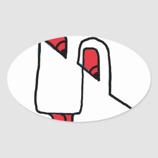 ditial art smily 01 oval sticker