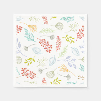 Ditsy Abstract Floral Background | Napkin