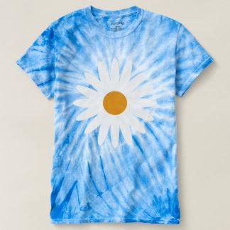 Ditsy Daisy Blue Tie Dye T Shirt