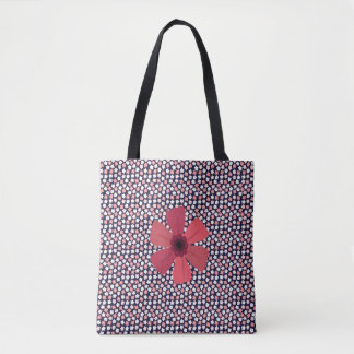 Ditsy Floral Meadow on Bright Navy Tote Bag