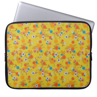 ditsy flowers for laptop laptop sleeve