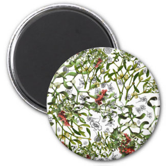 Ditsy Mistletoe Magnet
