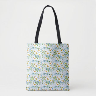 Ditzy Daisy's Vintage Pattern Tote Bag