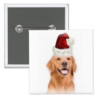 Ditzy Dogs~Original Button~Golden Retriever 2 Inch Square Button