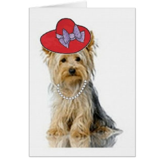 Ditzy Dogs~Original Notecard~Yorkie Card