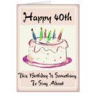 Diva'  40th Birthday Card for Baby Boomer Women