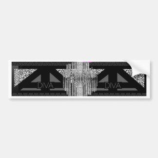 Diva Abstract Bumper Sticker