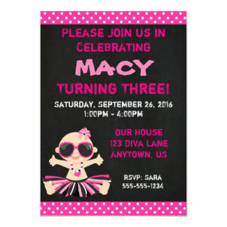 Diva Baby Birthday Invitation