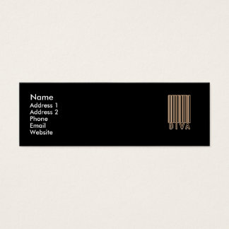 Diva Barcode Style Mini Business Card