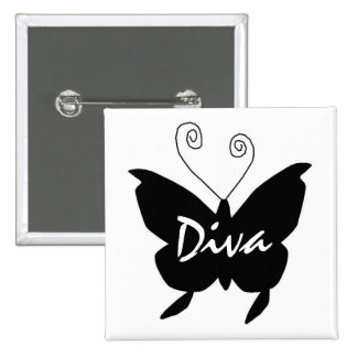Diva Butterfly I Button
