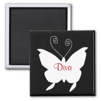 Diva Butterfly I Fridge Magnets